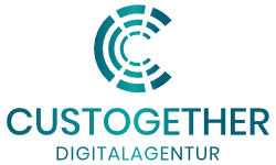 Logo der Digitalagentur Custogether für Webdesign, Printdesign und Hosting